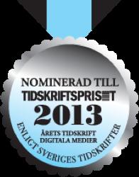 Nomierad till Tidskriftspriset 2013