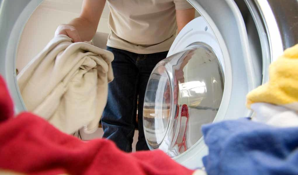 Textilfibrer når haven via avloppen när vi tvättar