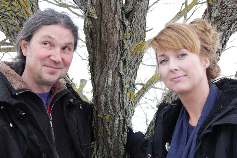 Johan Hedrén och Cecilia Åsberg vid Linköpings universitet leder tillsammans arbetet med The Seed box. Foto: Björn Pernrud