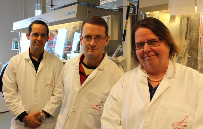Stevén Renault, Daniel Brandell och Kristina Edström, Uppsala universitet