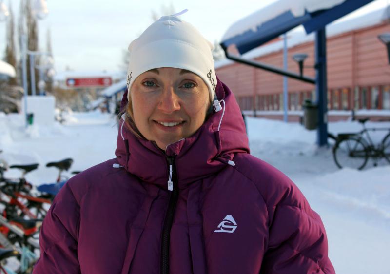Nina Lintzén, forskare vid Luleå Tekniska högskola och f d elitskidåkare.