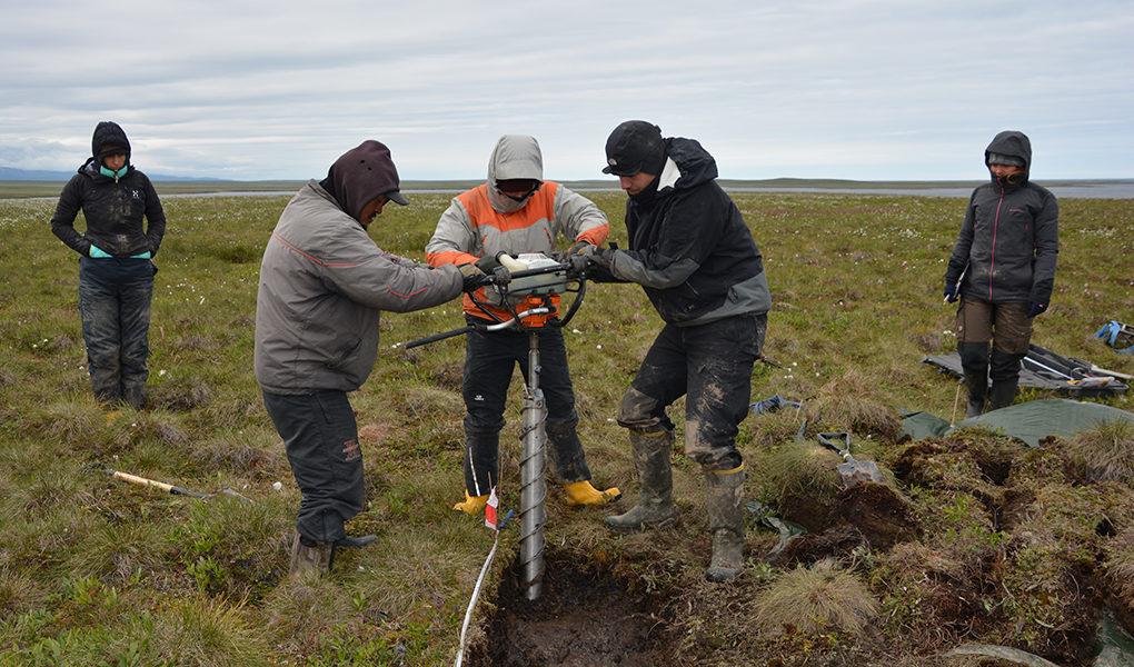 Provtagning av permafrost