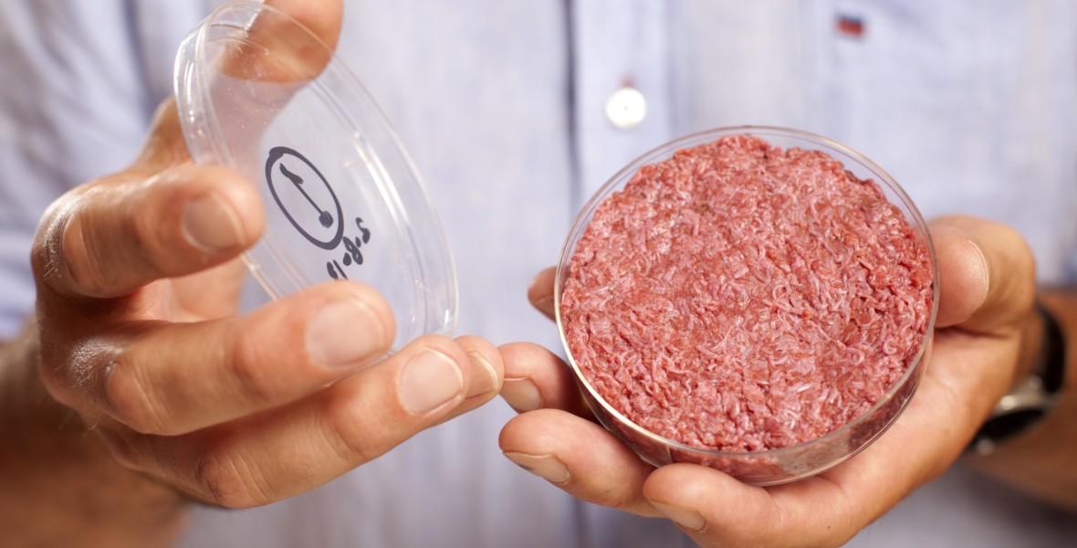 Världens första odlade hamburgare